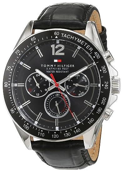 Tommy Hilfiger Hombre Reloj de Pulsera analógico Cuarzo Piel 1791117: Tommy Hilfiger: Amazon.es: Relojes