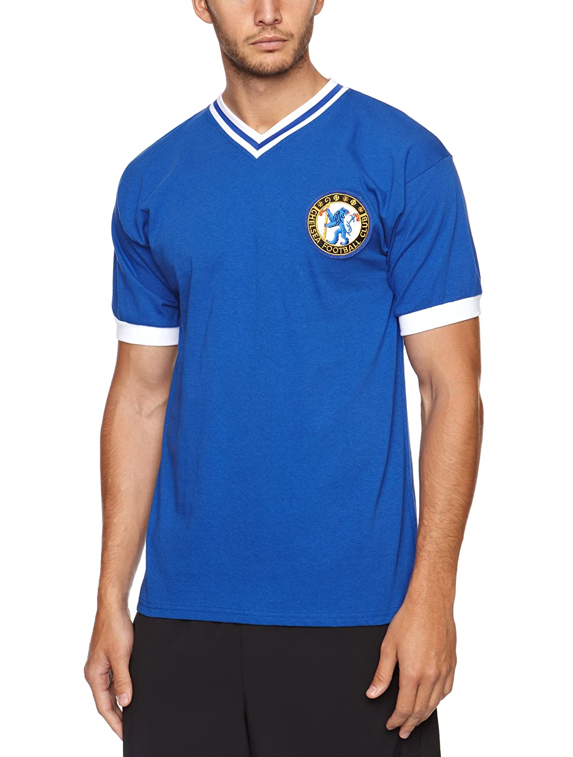 Amazon.com : XL Score Draw Official Retro Chelsea 1960 Number 8 Mens Retro Football Shirt - : Sports & Outdoors