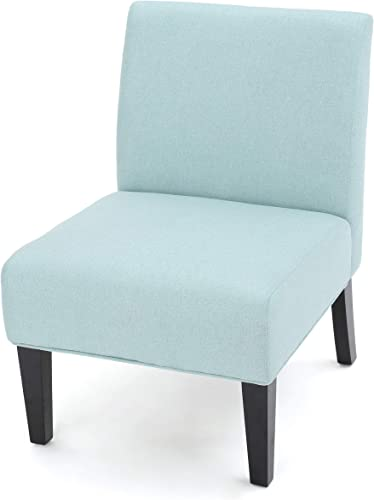 Kendal Light Blue Fabric Accent Chair