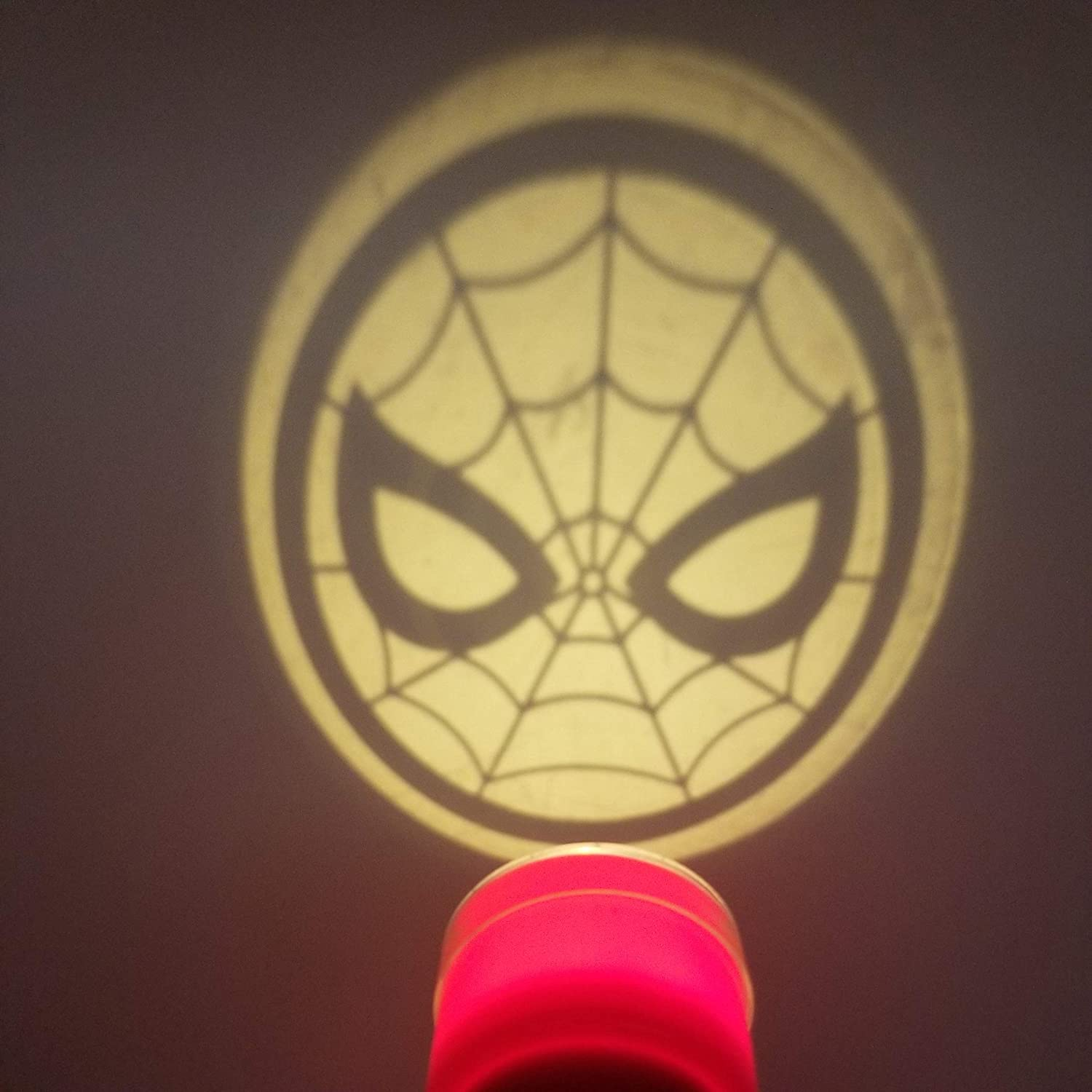 Halloween Safety Trick or Treat Spiderman Marvel Handheld Flashlight Projector Light with Character Lens Night Light or Play