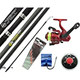 Hunter Pro 10' Carbon-X Complete Beginners Starter Float Match Fishing Kit Rod & SY200 Reel With Line & Tackle Set