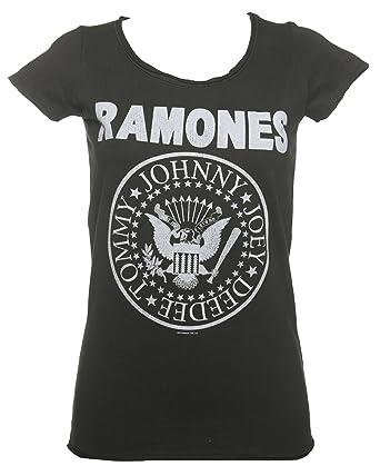 Amazon.com: Womens Charcoal Classic Ramones Logo T Shirt from ...