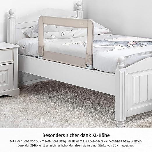 Reer 45087 Sleepn Keep Barrera de Seguridad para Cama 100 cm Color Beige