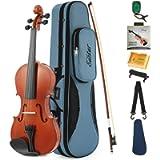 Eastar EVA-1 1/2 Natural Violin Set For Beginner Student with Hard Case, Rosin, Shoulder Rest, Bow, Clip-on Tuner and…