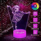 L/ámpara 3D Illusion Novedad Luz Led /Óptica 7 Colores Cambio Ballet Dancer Girl Light Touch Interruptor Mesa L/ámparas de Escritorio Para Ni/ños Dormitorio Regalos de Cumplea/ños