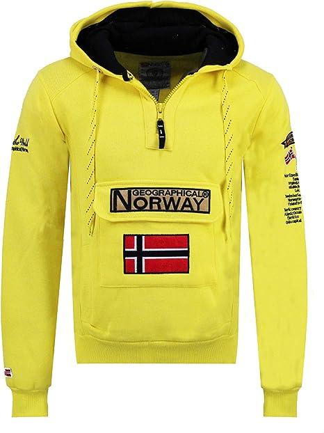 TALLA S. Geographical Norway Gymclass - Sudadera con Capucha para Hombre