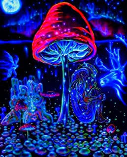 """Psychedelic Trippy Art Fabric Poster 18/"""" x 13/"""" P34"""