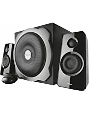 Trust 17966 Tytan 2.1 PC Speaker System with Subwoofer for Computer and Laptop, 120 W, UK Plug, Black