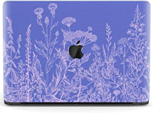 Mertak Hard Case for Apple MacBook Pro 16 Air 13 inch Mac 15 Retina 12 11 2020 2019 2018 2017 Botanical Protective Cover Print Floral Design Perennial Clear Laptop Touch Bar Herbs Wildflowers Purple