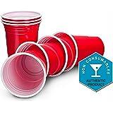 Rubis Pomme Rouge Américain Goblets Fête - 473,2ml (455ml) - Jetable Fête Soirée Tasses - Paquets de 50 ou 100 (50)