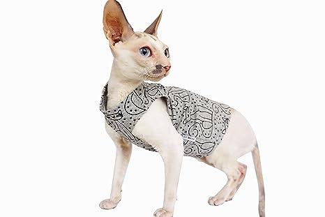 Kotomoda ropa para gatos camiseta gris gato (L)