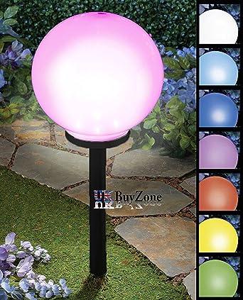 Lampe solaire de jardin, lumière géante - Boule/sphère/globe sur ...