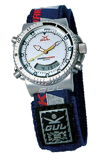 Gul 4287-877 - Reloj de caballero de cuarzo con correa textil azul - sumergible a 100 metros: Amazon.es: Relojes