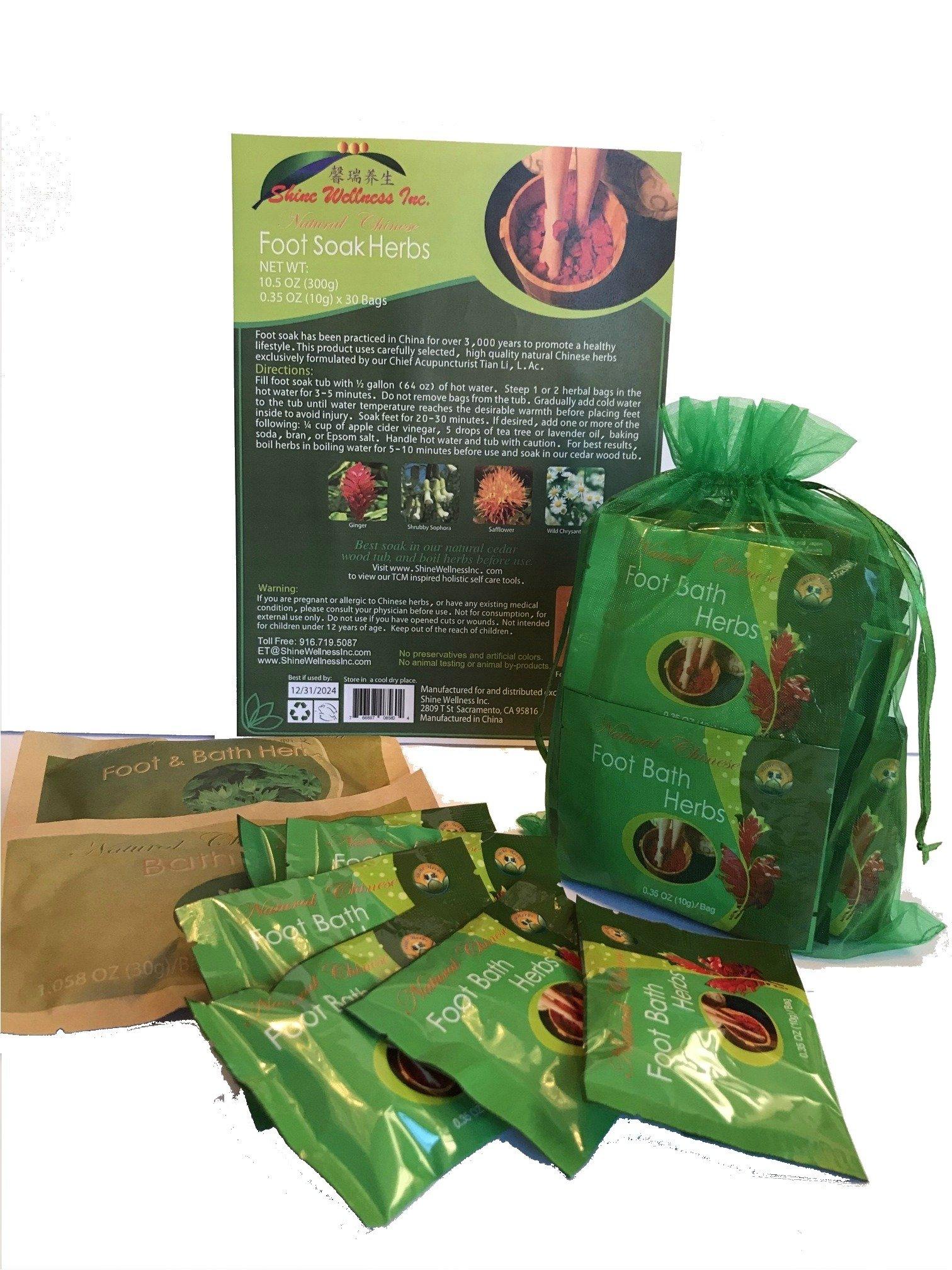 1 box Foot Soak Herbs Plus 2 FREE bags of Mugwort & Bath Herbs samples $8 Value