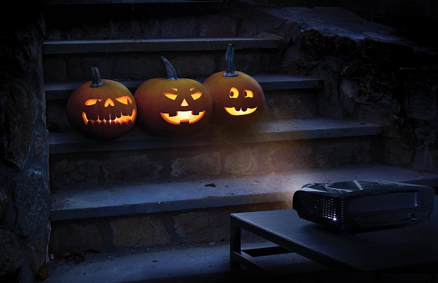 Amazon.com: AtmosFX Jack-O\'-Lantern Jamboree Digital Decorations ...