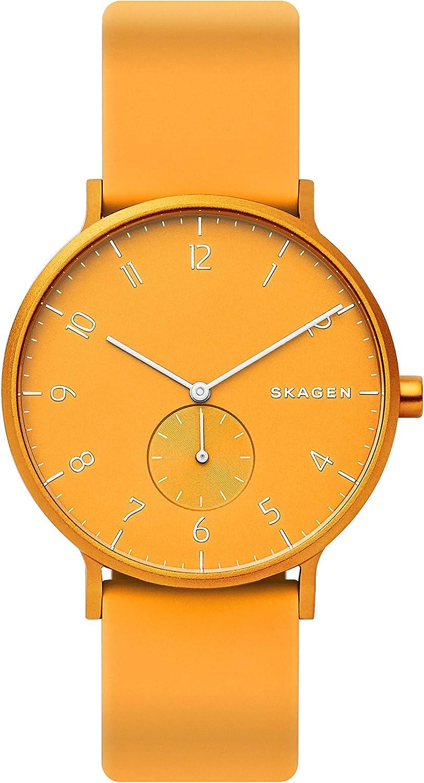 Skagen Reloj Analogico para Hombre de Cuarzo con Correa en Silicona