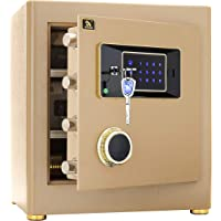 TIGERKING Digital Security Safe Box for Home Office Double Safety Key Lock and Password 1.4 Cubic Feet