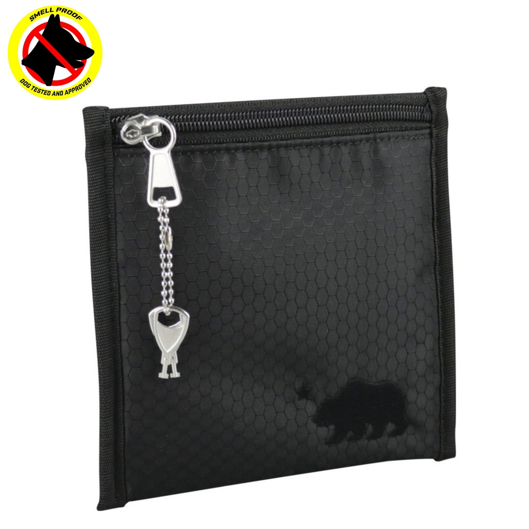 Cali Crusher 100% Smell Proof Pouch w/Locking Key (6''x6'') (Black)