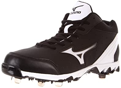new concept f6285 f0715 Mizuno Men s 9-Spike Vintage 7 Mid Switch Baseball Shoe,Black White,