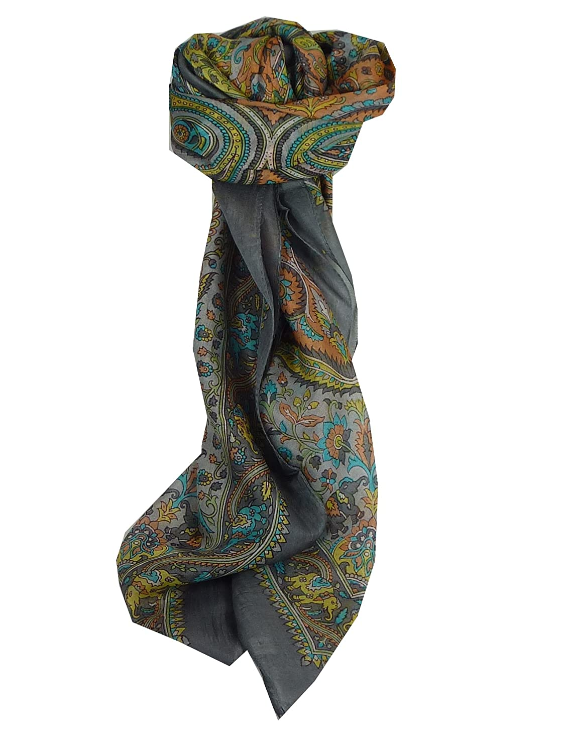 Dida Square Pearl Traditional Silk Scarf by Pashmina & Silk