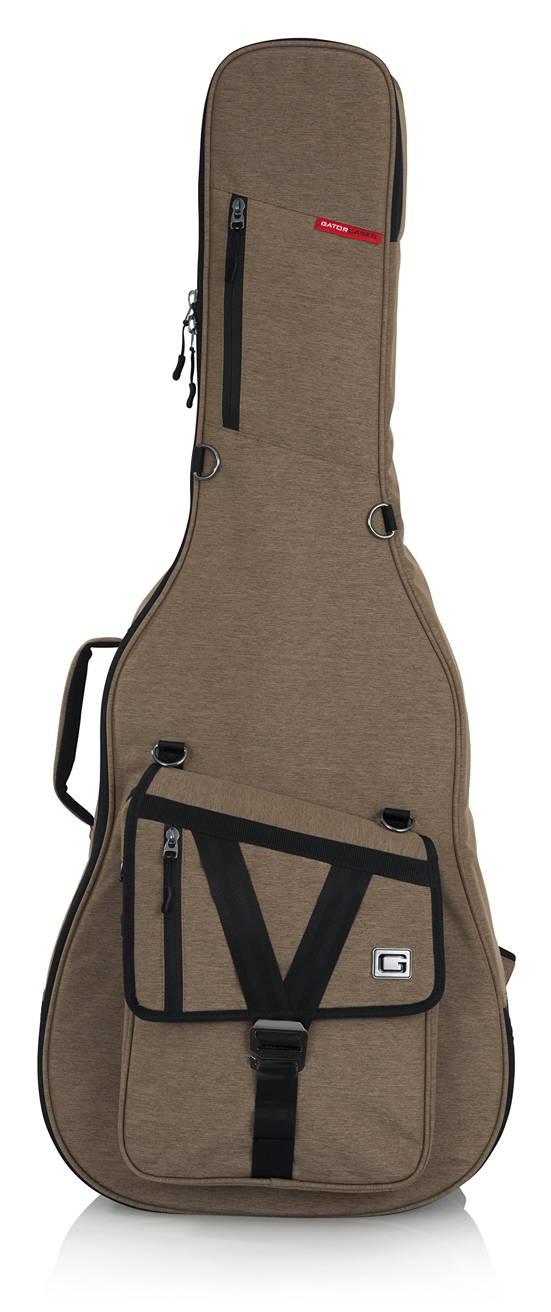 Gator Cases Transit Series Acoustic Guitar Gig Bag; Tan Exterior (GT-ACOUSTIC-TAN) by Gator