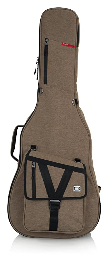 Gator Cases Transit Series - Funda para Guitarra Acústica, Marrón
