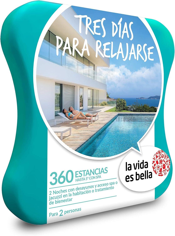 LA VIDA ES BELLA - Caja Regalo - TRES DÍAS PARA RELAJARSE - 360 hoteles de hasta 5* con acceso spa: Amazon.es: Deportes y aire libre