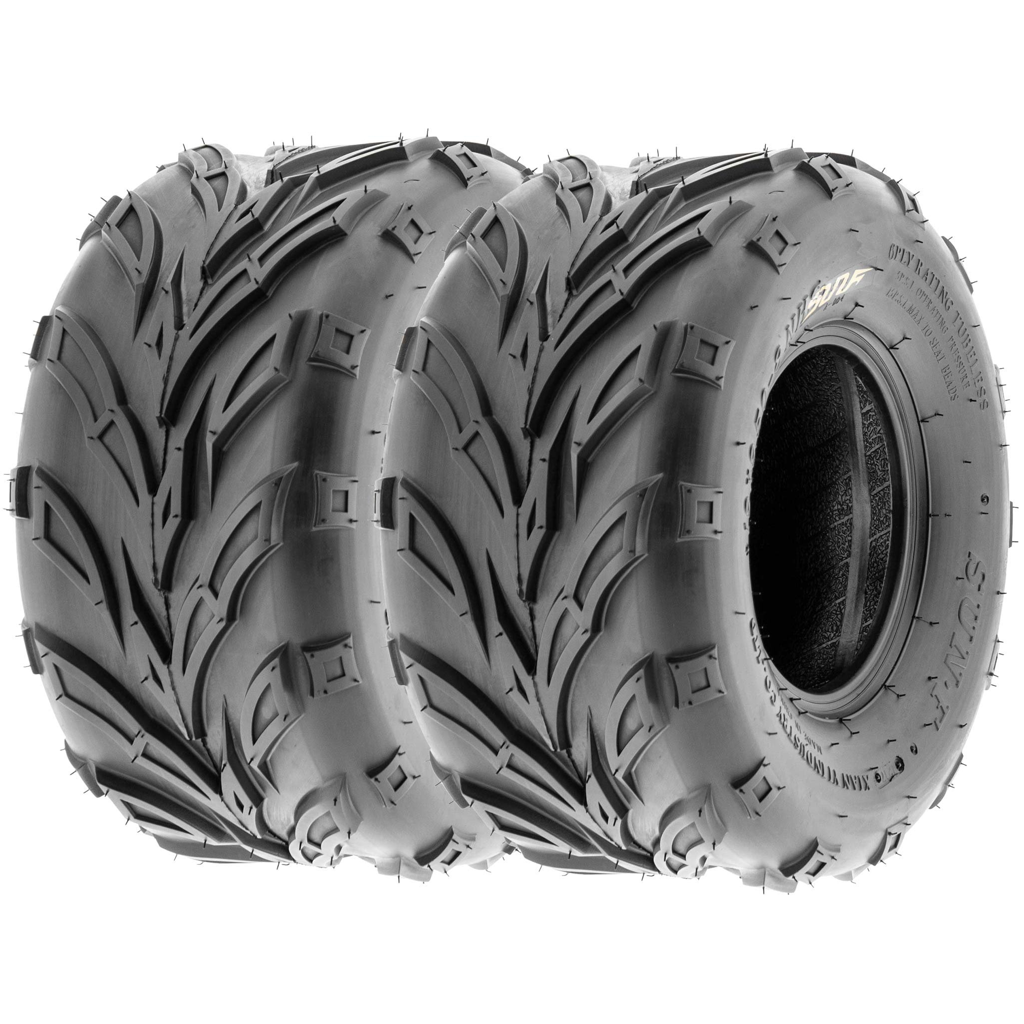 SunF 16x8-7 16x8x7 ATV UTV A/T Sport Trail Replacement 6 PR Tubeless Tires A004, [Set of 2]