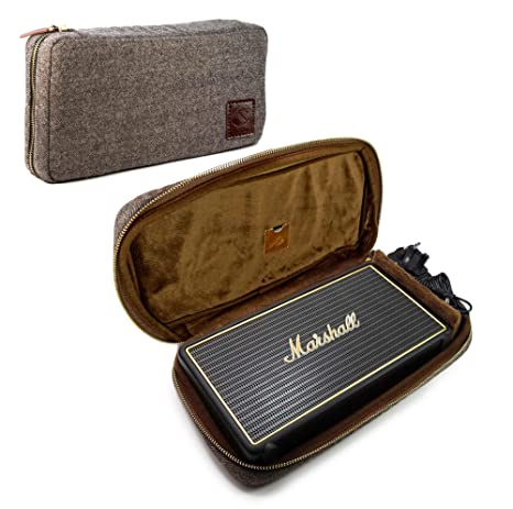 Tuff Luv Herringbone Tweed NFC Travel Case for Marshall Stockwell with NFC Tag - Brown