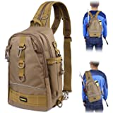 PLUSINNO Fishing Tackle Backpack Storage Bag,Outdoor Shoulder Backpack,Fishing Gear Bag,Water-Resistant Fishing Backpack…