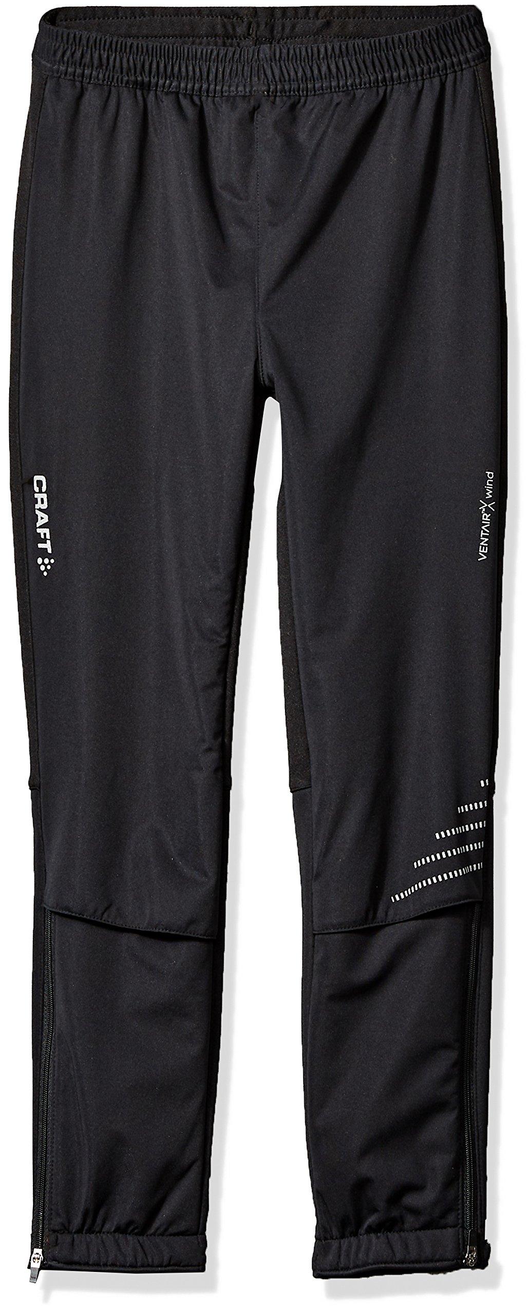 Craft Juniors Warm Pants, Black, Medium