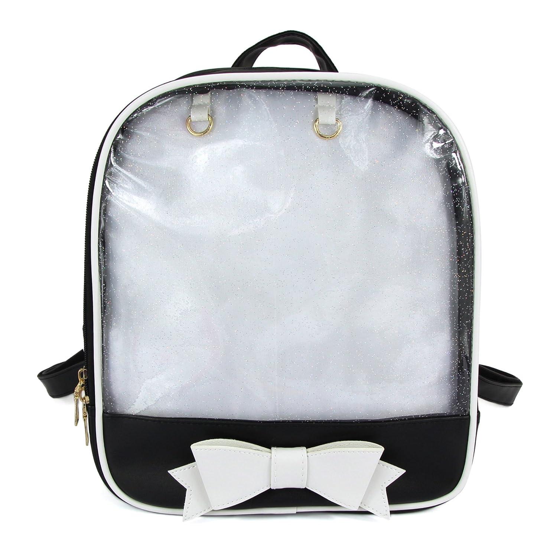 SteamedBun Ita Bag Candy PU Leather Backpack Bowknot Kawaii Window Girls School Bag