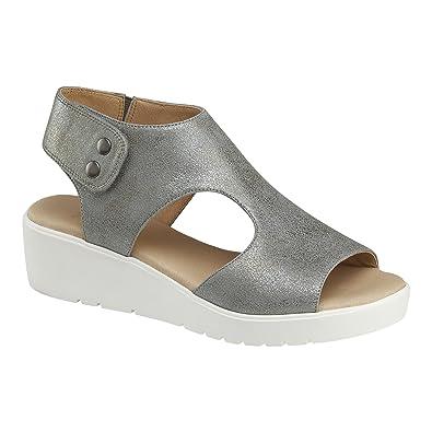 76391257d Johnston   Murphy Women s Camilla Silver Wedge Sandal ...