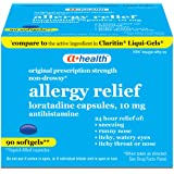A+Health Loratadine 10 Mg Softgels, 24 Hour Allergy Relief, Made in USA, 90 Count