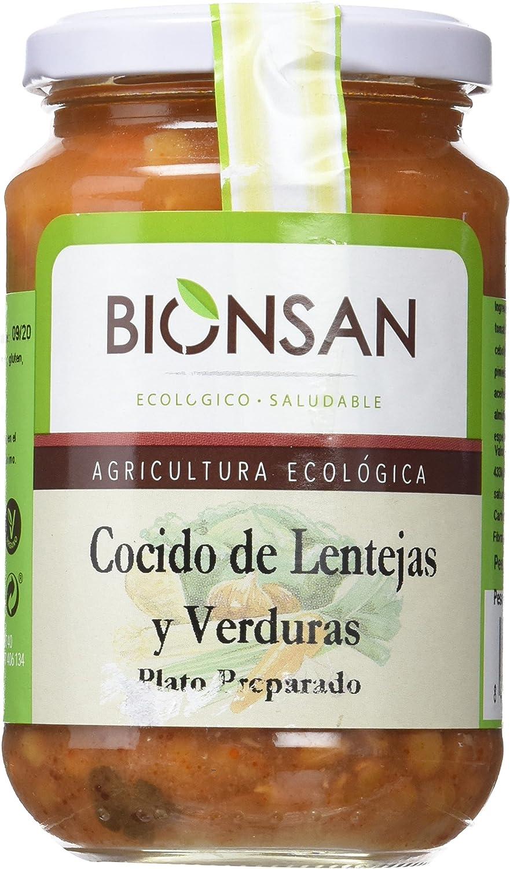 Bionsan Cocido Ecológico de Lentejas con Verduras - 6 Botes ...