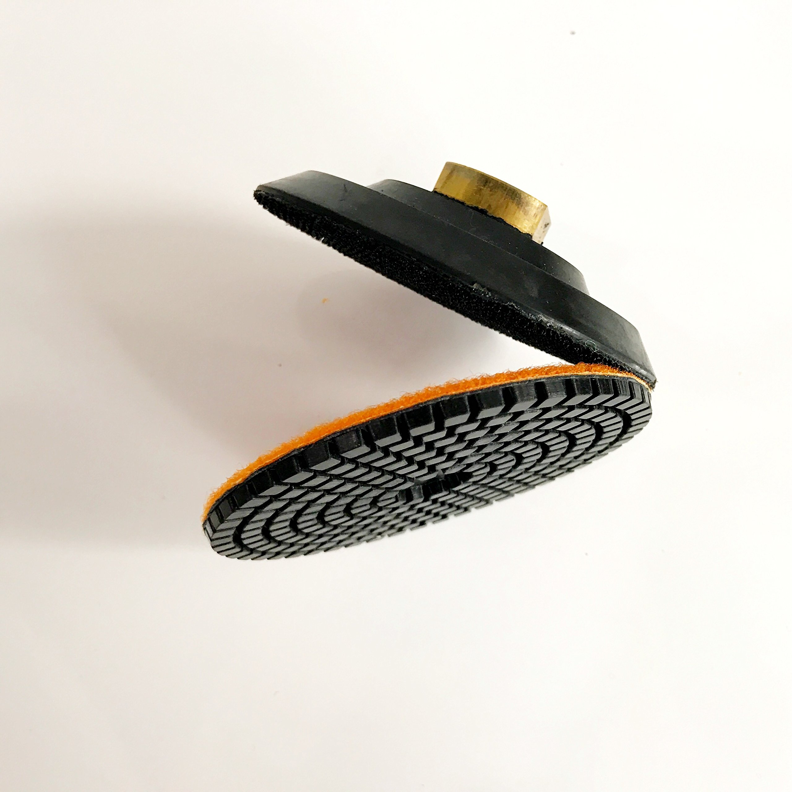 TUFF BUFF - Wet/Dry Diamond Polishing Pads - 11 Piece Set with Rubber Backer for Granite, Stone, Concrete, Marble, Travertine, Terrazzo- 4'' Inch Pads by Tuff Buff (Image #8)