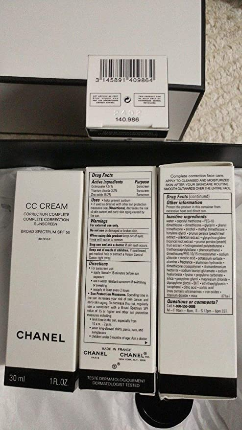 61d7ec8e9aefe Amazon.com   CC CREAM COMPLETE CORRECTION SUNSCREEN BROAD SPECTRUM SPF 50    10 BEIGE 1 FL. OZ. 100% Authentic by ThePrincessStories39   Everything Else
