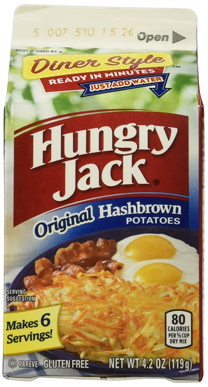 Hungry Jack Premium Hashbrown Potatoes 4.2 oz (Pack of 2)