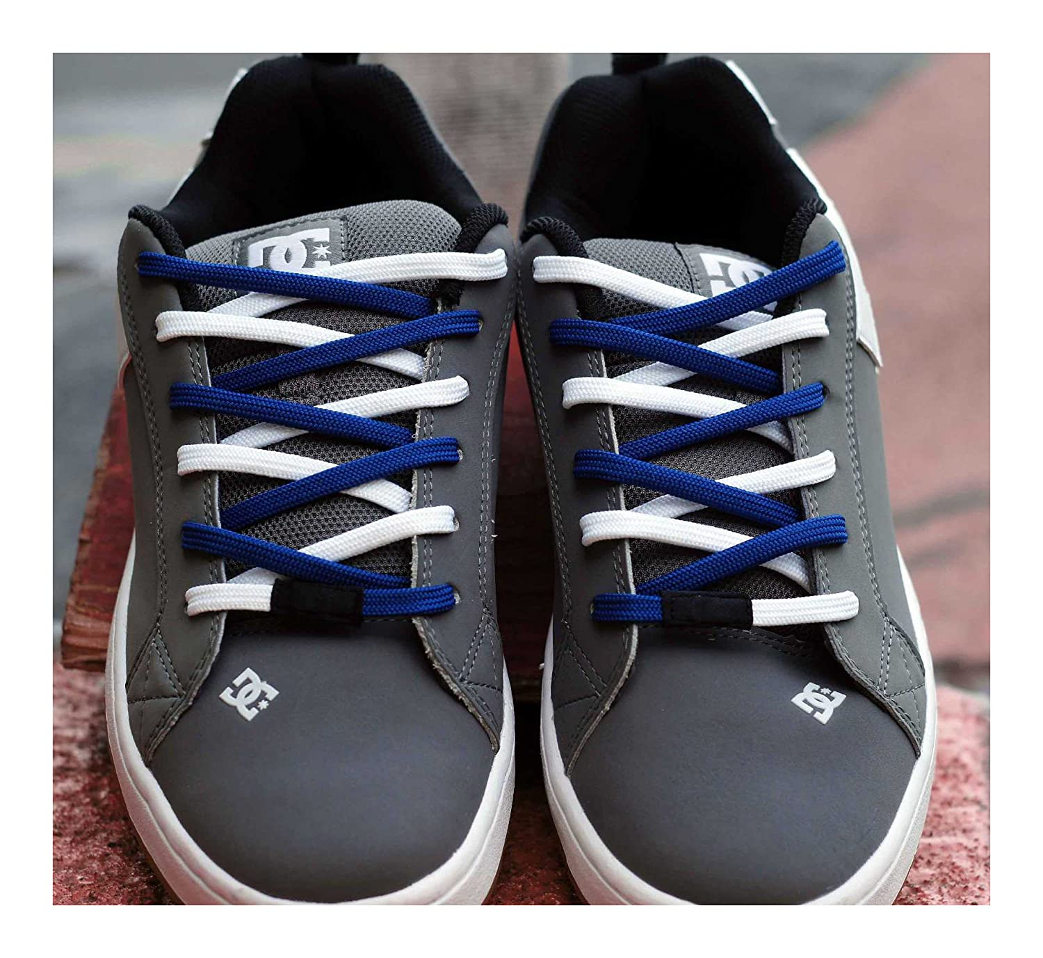 Amazon.com: Easy Tie Shoe Laces - Dual colored, waxed, shoelaces ...