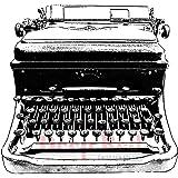 深い赤しがみつくスタンプ古典的なタイプライター