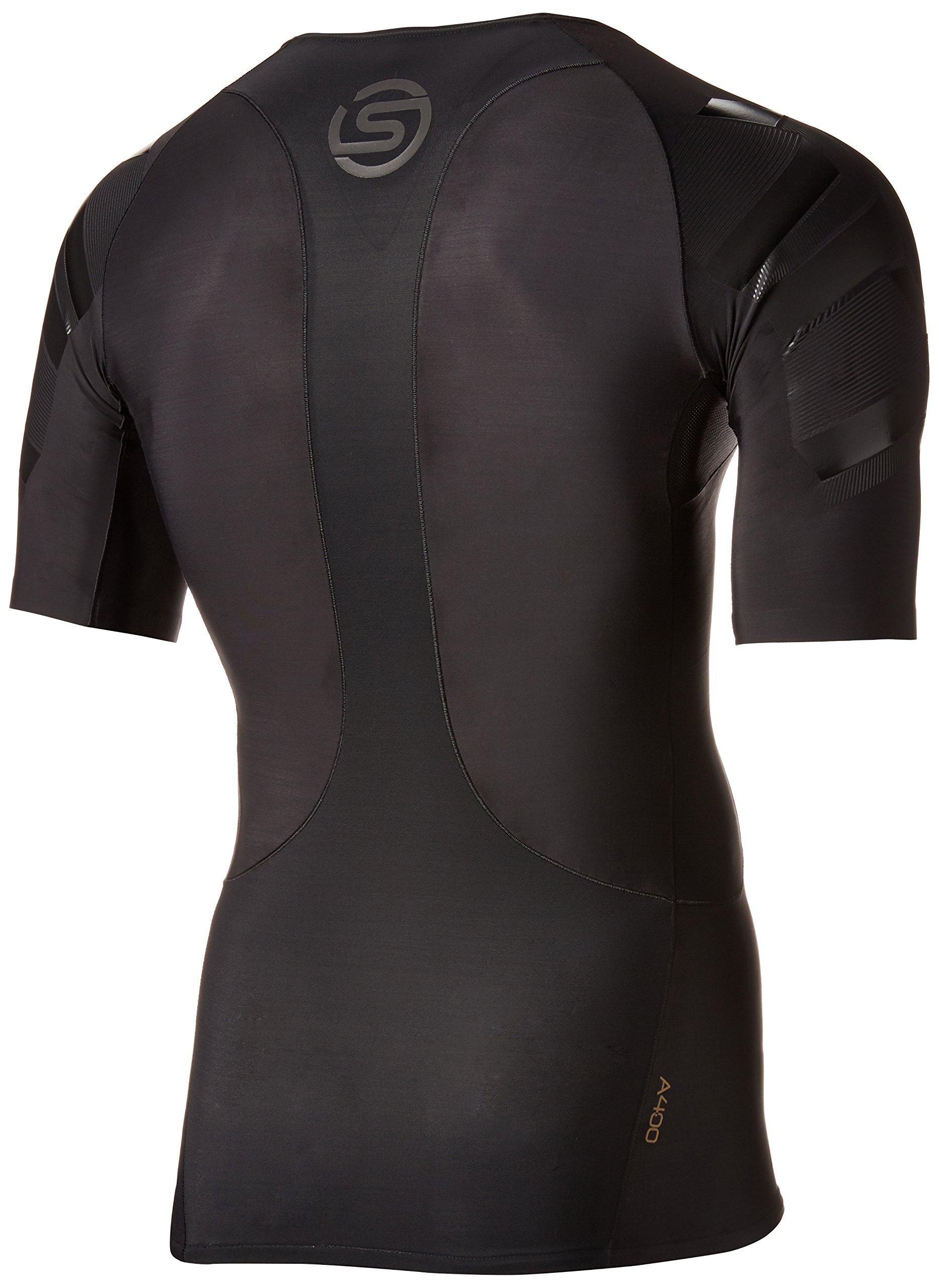 Skins Men's A400 Compression Short Sleeve Top, Oblique, X-Small by Skins (Image #2)