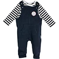 SALT AND PEPPER Baby-Jungen Strampler NB Playsuit Bear Uni Tasche