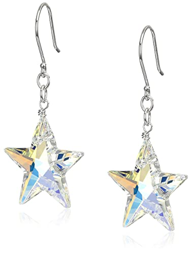 Sterling Silver Dangly Stars Drop Earrings GY8H9rDUTM
