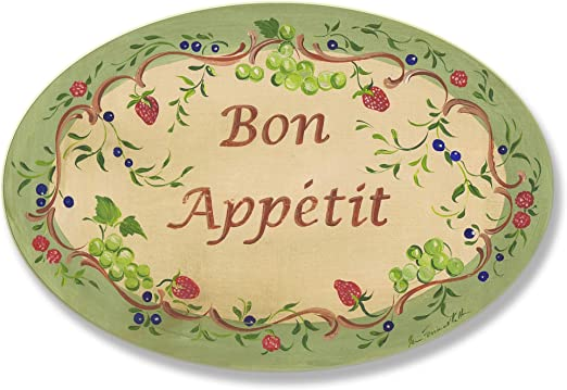 Stupell Home D/écor Bon Appetit Green Border Kitchen Wall Plaque Proudly Made in USA The Stupell Home Décor Collection KWP-717 10 x 0.5 x 15