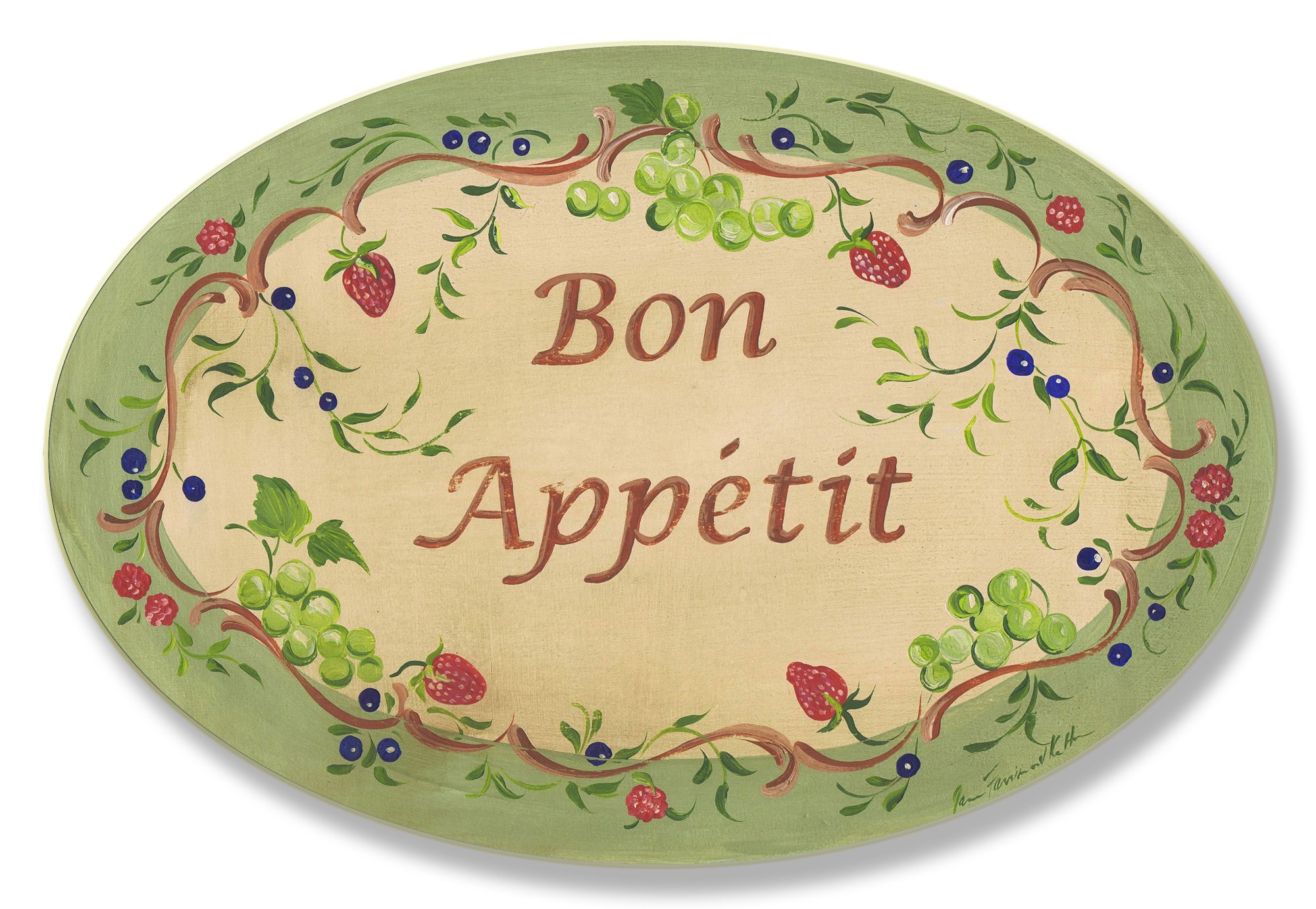 Stupell Home Décor Bon Appetit Green Border