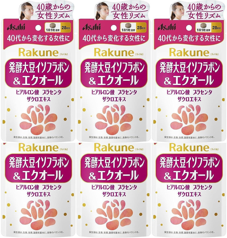 【6個セット】Rakune(らくね) 28粒 発酵大豆イソフラボン&エクオール B06XF8QLY8