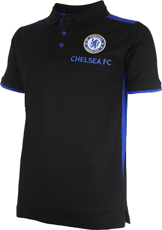 Chelsea FC Fútbol 1341497 S Polo, Negro/Real, FR: S (Talla del ...