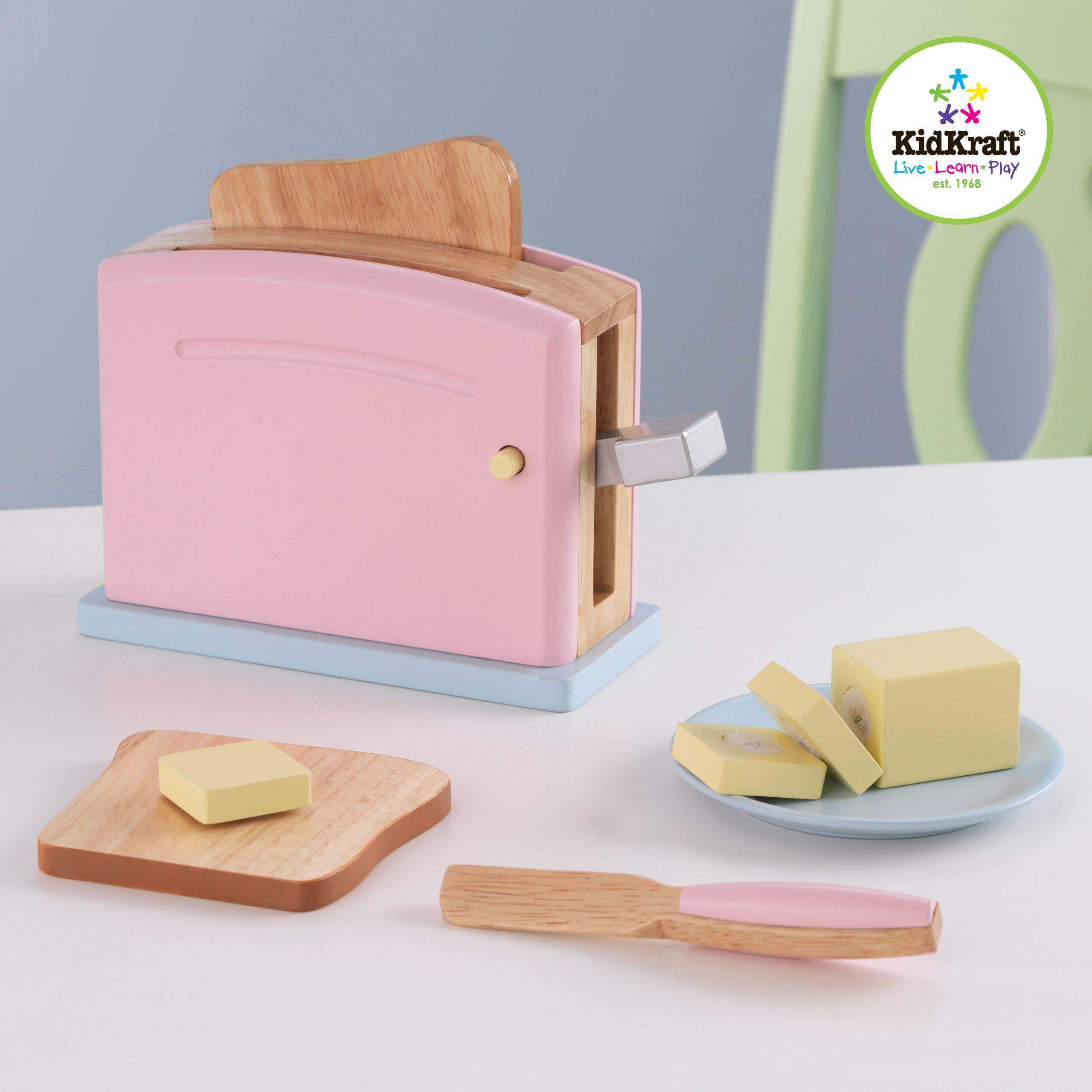 KidKraft Wooden New Toaster Set - Pastel by KidKraft (Image #2)