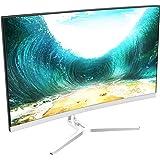 VIOTEK NB24CW 24-Inch LED Curved Monitor with Speakers, Bezel-Less Display, 75Hz 1080P Full-HD FreeSync VGA HDMI VESA - Xbox Ready (White)