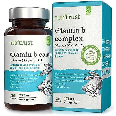 B Complex Vitamins 275 mg Comprimidos de Nutritrust®:250% más de vitaminas B